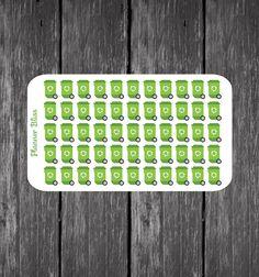 Trash Planner Stickers - Erin Condren, Kikki K, Filofax, Plum Paper, Recycle Stickers, Garbage Stickers, Waste, Refuse