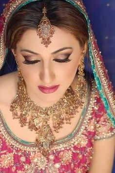Jewellery & Makeup, Beauty of the the Indian Bride Indian Eye Makeup, Indian Eyes, Bridal Eye Makeup, Indian Bridal Makeup, Asian Bridal, Bride Makeup, Wedding Makeup, Exotic Makeup, Bridal Beauty
