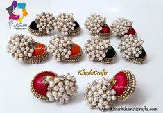 Silk Thread designer bridal jhumkas Silk Thread Jhumkas, Ornament Wreath, Ornaments, Beaded Bracelets, Wreaths, Bridal, Blue, Color, Design