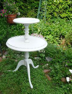 Sweet: Romantic Pedestal Table Vintage Poppy Cottage by poppycottage, $140.00