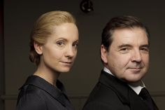 Still of Brendan Coyle and Joanne Froggatt in Downton Abbey (2010)