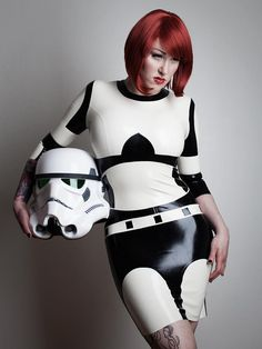 Star Wars Stormtrooper Inspired Rubber Latex by ShhhCoutureLatex,