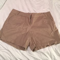 J. Crew khaki chino shorts J. Crew's 'city fit' in khaki! Worn only a couple of times, but still have so much life left in them. J. Crew Shorts