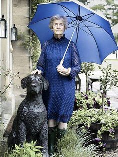 Debo, the Dowager Duchess of Devonshire.