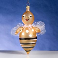 De Carlini Baby Bee Girl Ornament The Cottage Shop