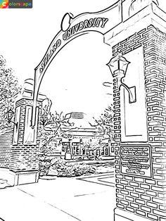 17 best coloring pages au campus