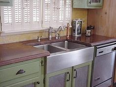 Custom Concrete Countertop Right In Line With Traditional Color Palette.  Stonecraft Inc Gorham, ME | Traditional Indoor Concrete Styles | Pinterest  ...