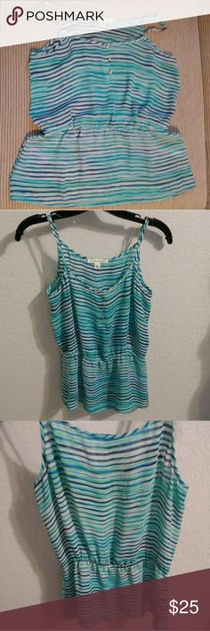 6 for $26 - Banana Republic Striped Top Striped top with adjustable spaghetti straps and cinched waist.   Brand: Banana Republic Size: S  6 for $26 - Back2School Sale. Bundle six marked '6 for $26', offer $26 and I'll accept. Banana Republic Tops