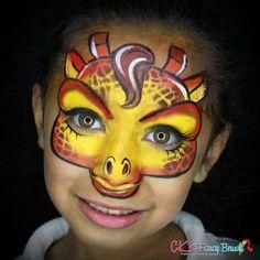 Cesia Landaverde Giraffe Face Painting Design
