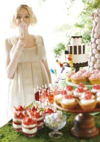 こもれびガーデンでデザートブッフェをゲストと楽しむ   大阪で自然に包まれた森ウエディングができる結婚式場 鶴見ノ森 迎賓館