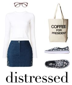 """""""Untitled #699"""" by ichanee ❤ liked on Polyvore featuring Proenza Schouler, Christian Dior, Vans and Dogeared"""