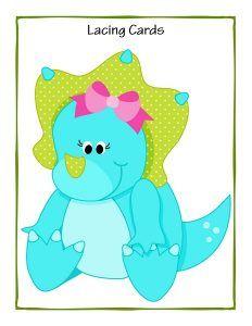dinosaur theme lacing cards free (3)