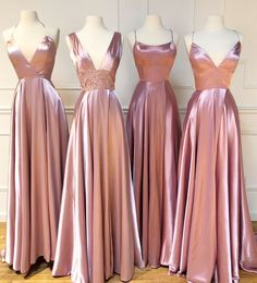 Cheap Long Pink Bridesmaid Dresses For Wedding Party A Line Plus Size Women Dress Gowns Pink Bridesmaid Dresses Long, Cheap Bridesmaid Dresses Online, Wedding Bridesmaids, Pink Brides Maid Dresses, The Dress, Pink Dress, Dress Long, Cheap Gowns, Marie