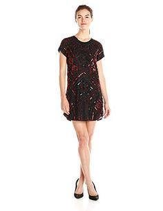 Parker Women's Topaz Beaded Detail Short Sleeve Shift Dress - http://darrenblogs.com/2015/12/parker-womens-topaz-beaded-detail-short-sleeve-shift-dress/