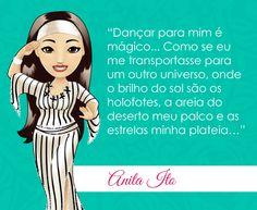 Vamos dançar e se transportar pra outro universo? Que a semana seja colorida e vibrante!!! Mascote Anita Ito de São Paulo - SP #dancadoventre #frasedanca #centraldancadoventre #mascotedancadoventre