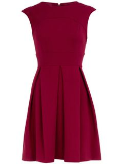 Red Fit & Flare Dress | Dorothy Perkins
