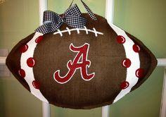 Alabama Football - Burlap Door Hanger