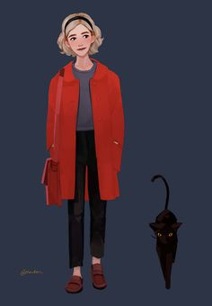 The series is centered on the Archie Comics character Sabrina Spellman. Sabrina must reconcile her dual nature as a half-witch, half-mortal while fighting the evil forces that threaten her, her family and the daylight world humans inhabit. Series Movies, Tv Series, Sabrina Cast, Fnaf, Hogwarts Uniform, Character Art, Character Design, Teen Witch, Kiernan Shipka