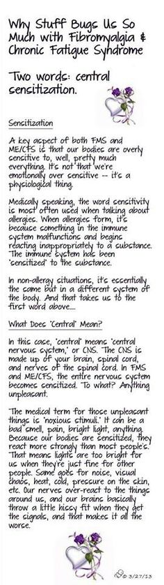 This is so true! Central Sensitization...Please read and understand :(