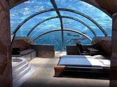 underwater room....