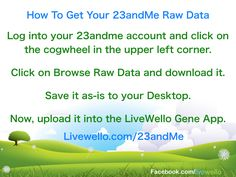 How to download your 23andMe Raw Data https://Livewello.com/genetics
