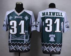 578c1ac86 Men s NFL Philadelphia Eagles  31 Maxwell Noble Fashion Elite Jersey Carson  Wentz