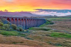 Pen-y-Ghent and Ribblehead Viaduct, Yorkshire Dales
