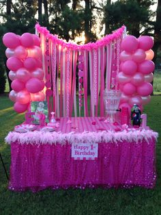 1st Birthday Pink Party - Food Table