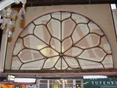 ANTIQUE-ARCHITECTURAL-BEVELED-ARCHED-STAINED-GLASS-WINDOW