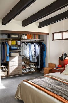 See Actress Sophia Bush's Incredible Los Angeles Home Renovation - Sophia Bush's Los Angeles Home Renovation – Sophia Bush Home Renovation Photos - Grey Side Table, Hollywood Homes, Master Bedroom Closet, Sophia Bush, Closet System, Los Angeles Homes, Celebrity Houses, California Homes, Mid Century House