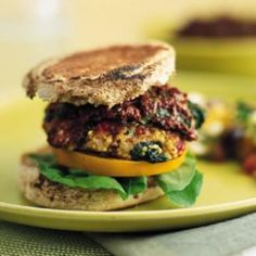 These high-fiber veggie burgers get added body and a pleasant mild flavor from millet, a nutrition powerhouse. They get their spectacular punch from Olive Ketchup and feta cheese. http://amzn.com/B00ZS0BX8K