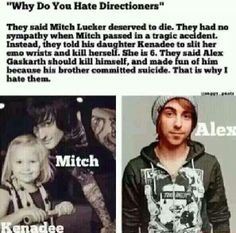 well I know they aren't all like that but most of them are....I just don't understand how someone could be so mean to anyone....especially with Mitch and Alex