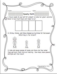 Halloween Activity Packets -- Games and much more inside! #centers #games