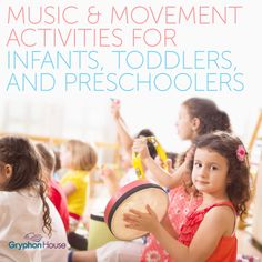 Music and Movement Activities for Infants, Toddlers, and Preschoolers help learn music insturments, language, and develop their large motor skills by moving their body. Music For Toddlers, Music Lessons For Kids, Music Lesson Plans, Piano Lessons, Toddler Music, Music For Babies, Fun Music, Music For Young Children, Music Games For Kids