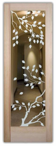Cherry Tree - Etched Glass Door