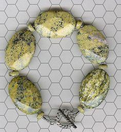 Bracelet  Yellow Jasper Sterling Silver by ChicStatements on Etsy, $35.00