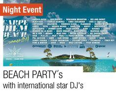 Night Partys in Croatia at Carpe Diem Beach