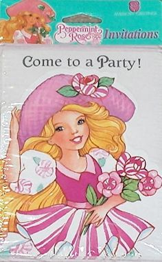 """1992 American Greetings / Peppermint Rose """"Come to a Party"""" Invitations NIP Vintage Birthday Decorations, Vintage Birthday Parties, American Greetings, Vintage Greeting Cards, Birthday Cupcakes, Vintage Dolls, Peppermint, Party Invitations, Postcards"""