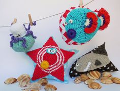 pillows fish crochet