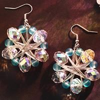 How to Make Crystal Snowflake Earrings with Clear Step-by-Step Pictures