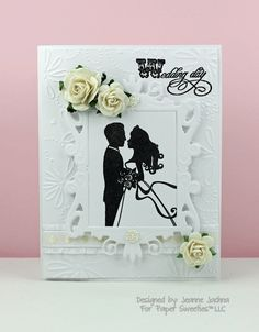 "Created by Jeanne Jachna akeptlife.blogspot.com for www.papersweeties.com featuring ""Wedding Day"" Stamp set."