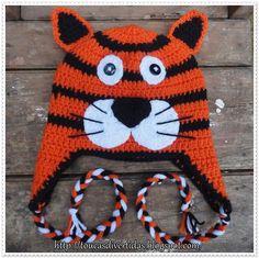 Touca de Crochê Tigre  toucasdivertidas@hotmail.com