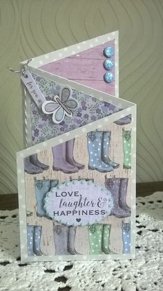 Tips and tutorials to inspire others to try out my projects. I enjoy bookfolding, card making, stamping, folk art and am trying mixed media Tx Tri Fold Cards, Fancy Fold Cards, Folded Cards, Birthday Cards For Men, Male Birthday, Craftwork Cards, Shaped Cards, Friendship Cards, Butterfly Cards