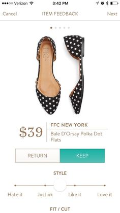 #stitchfix @stitchfix stitch fix https://www.stitchfix.com/referral/3590654 FFC New York Bale D'Orsay Polka Dot Flats Love these! You could pair them with a plethora of outfits!