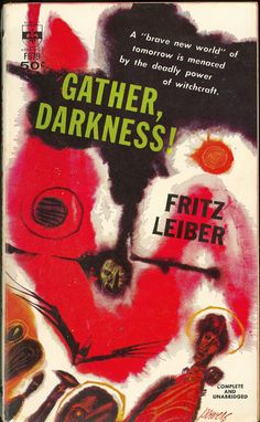 Gather, Darkness!, art by Richard M. Powers, book cover