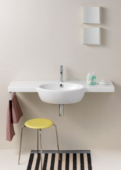 GSI ceramic | The consistent design and the large bowl make these washbasins ideal for all bathroom furnishing needs.