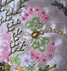 I ❤ crazy quilting and embroidery . . .   Making a Butterfly Out of Lace- Since I love butterflies and they are one of my favorite CQ embellishments to create, I thought I'd show you how I make mine out of lace. here is a little tutorial for you. ~By NickiLee of Raviolee Dreams