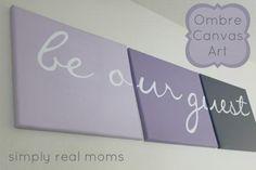 DIY Home DIY Decor DIY Crafts: DIY Ombre Canvas Art- in the guest room