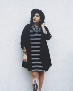Think there's no alternative plus size fashion icons? This list features plus size goth, plus size grunge, kawaii cuteness, nonbinary babes etc Plus Size Grunge, Plus Size Goth, Look Plus Size, Dress Plus Size, Plus Size Outfits, Plus Size Hipster, Plus Size Casual, Hipster Grunge, Grunge Style