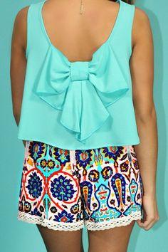 High Rise Unique Print Boho Shorts | uoionline.com: Women's Clothing Boutique